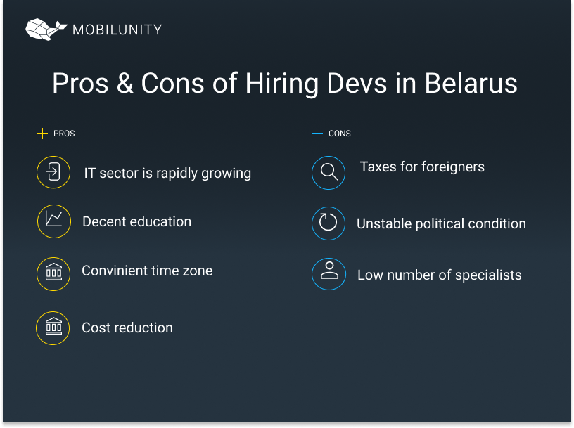 Pros & Cons of hiring software developers in belarus