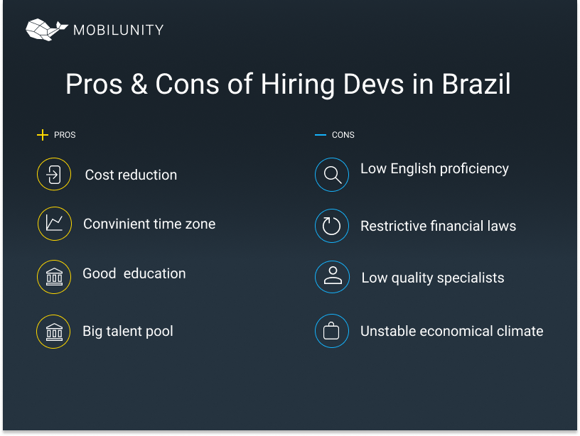 dedicated software development team in Brazil pros and cons