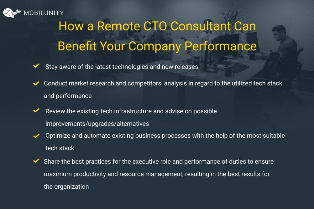 CTO consultant benefits