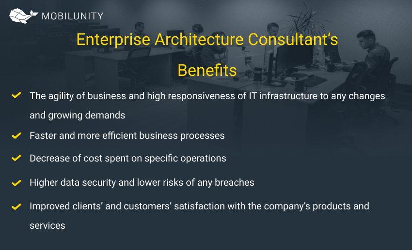 Enterprise Architecture Consulting benefits