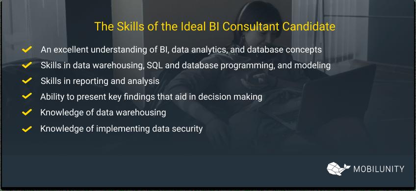 Ideal BI Consultant skills