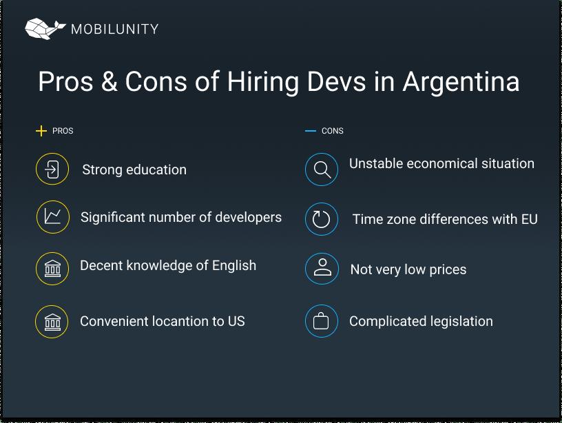 Pros & Cons of Hiring Devs in Argentina