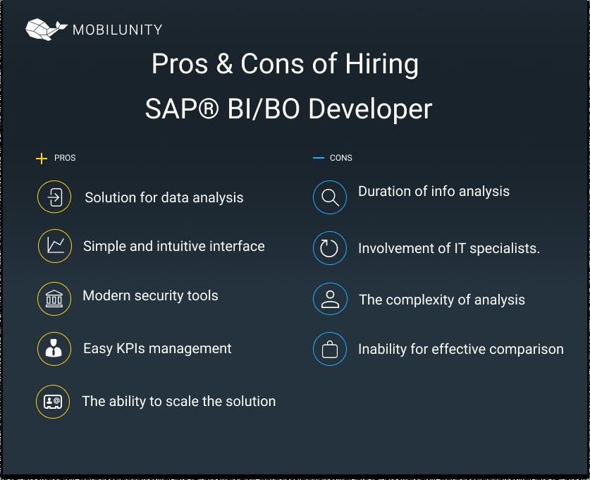 sap business intelligence developer pros cons