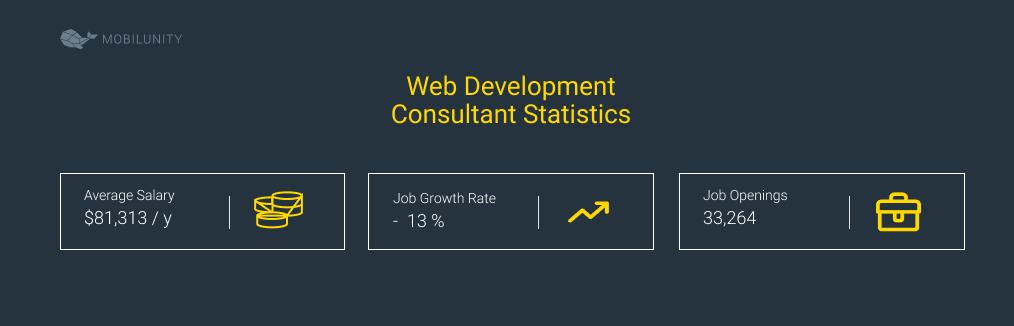 Web Development Consultant Statistics