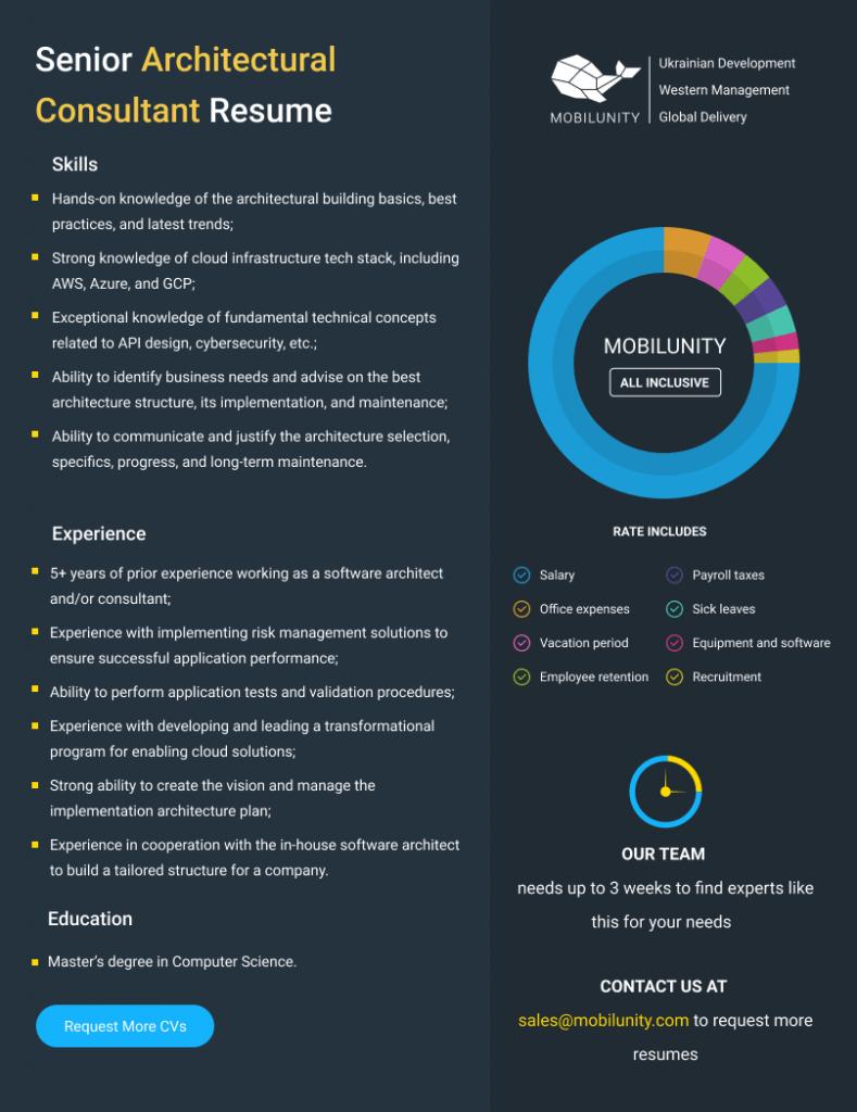 architectural consultant resume