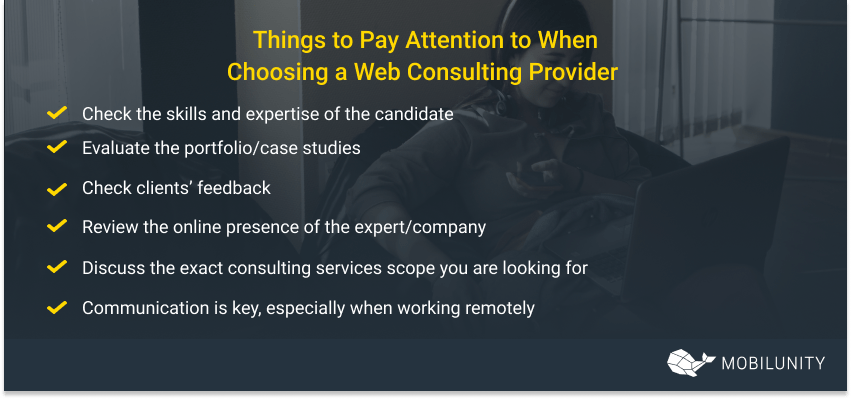 how to choose web consulting designer