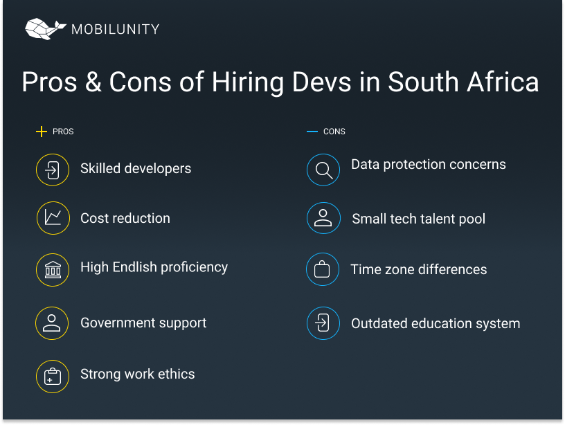 remote software developer south africa pros cons