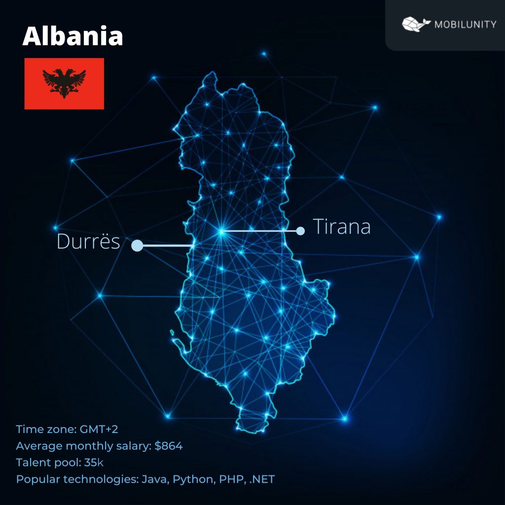 why outsourcing to Albania