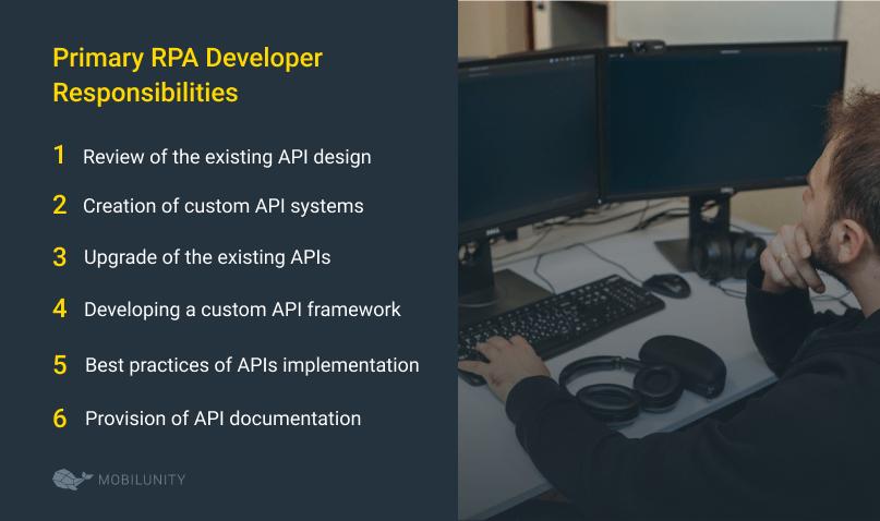api developer responsibilities