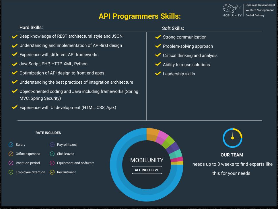 api programmer skills