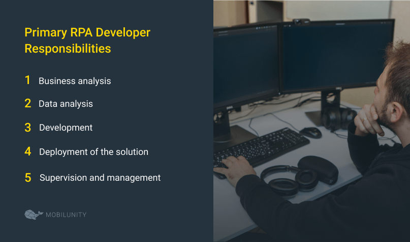 rpa developer roles and responsibilities