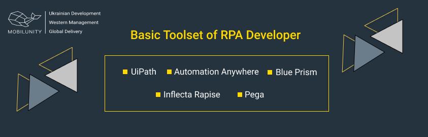 rpa software engineer tools