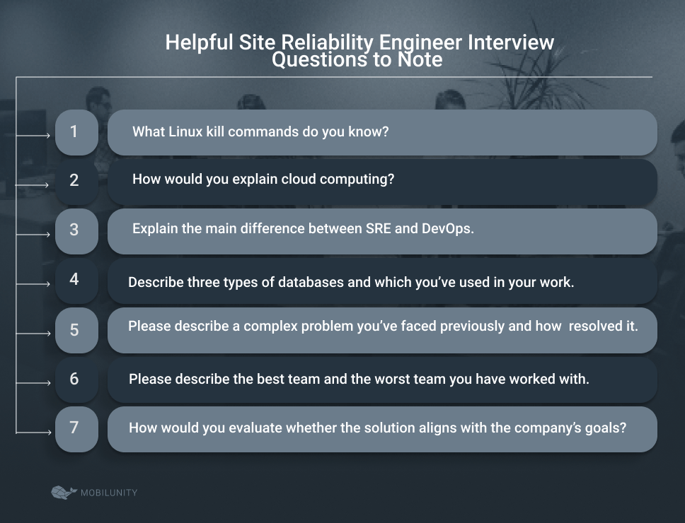 site reliability engineer interview questions