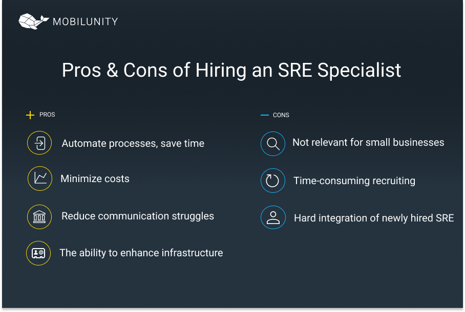 site reliability engineer pros and cons