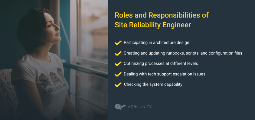 site reliability engineer responsibilities