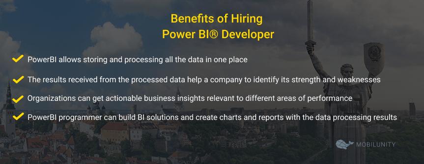 hiring power bi developer benefits