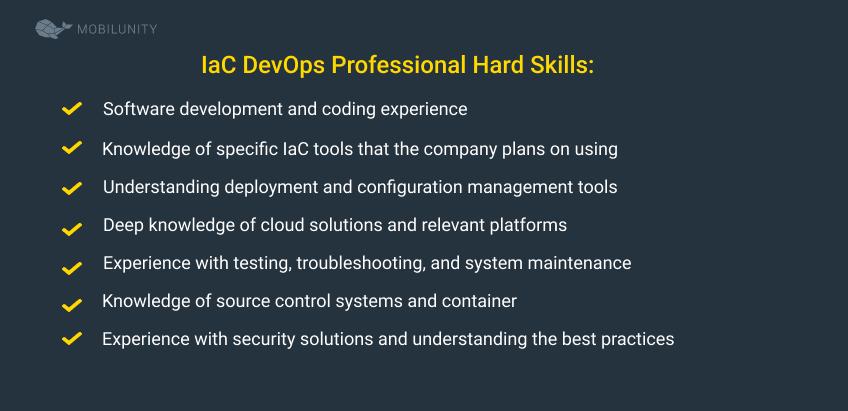 iac developers hard skills