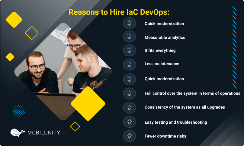 reasons to hire iac devops