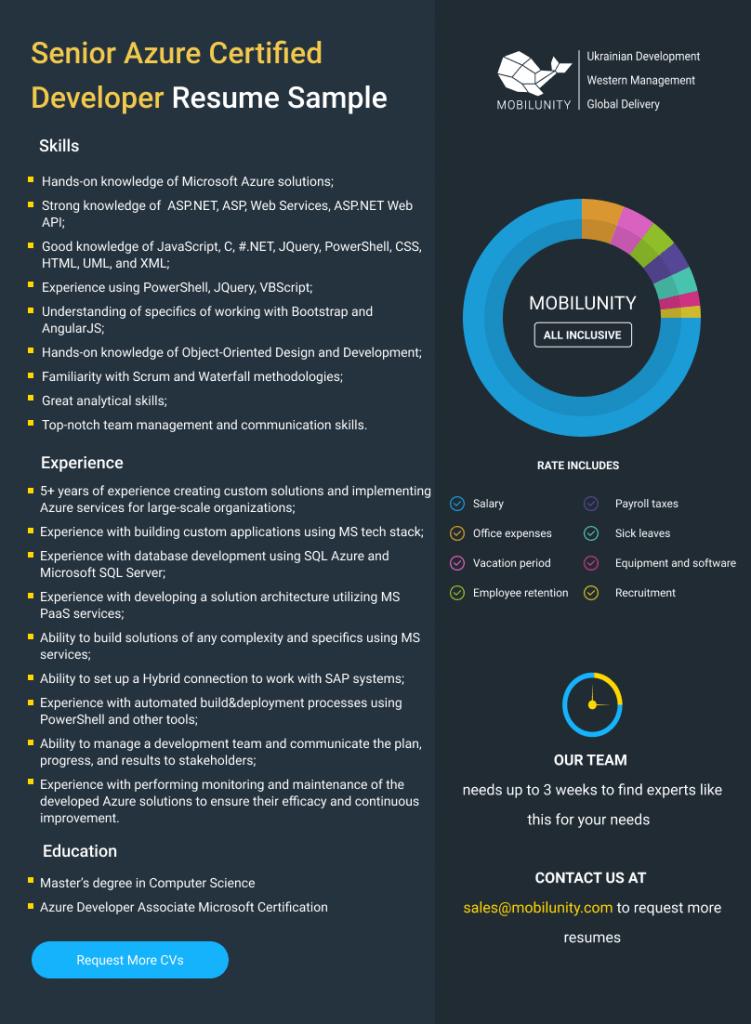 Azure Managed Services Dev Resume