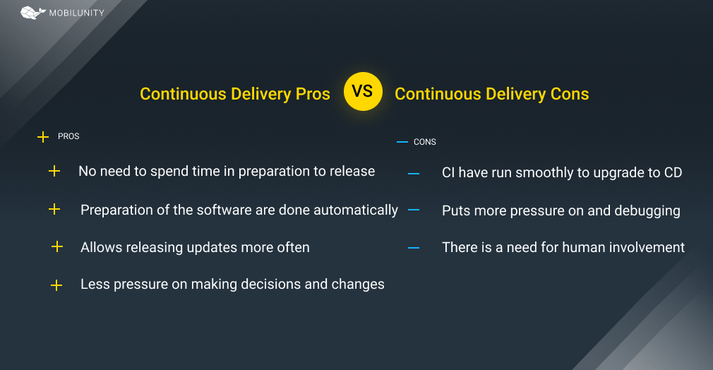 Pros & Cons of software delivery