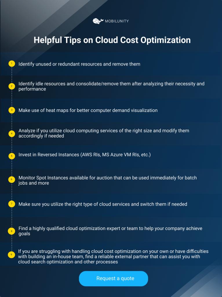 cloud cost optimization tips
