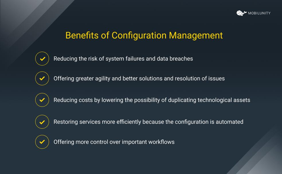 configuration management benefits