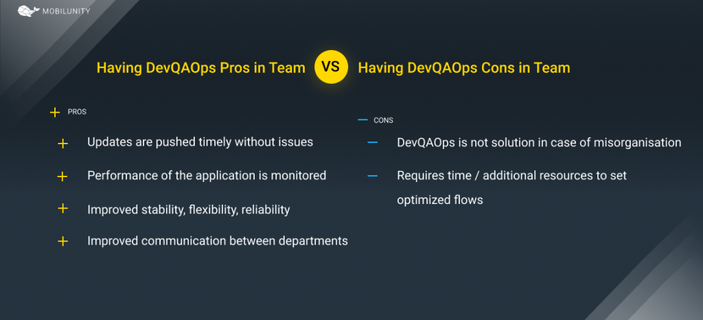 devqaops pros and cons