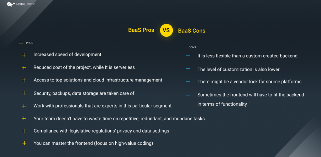 Pros & Cons of baas model