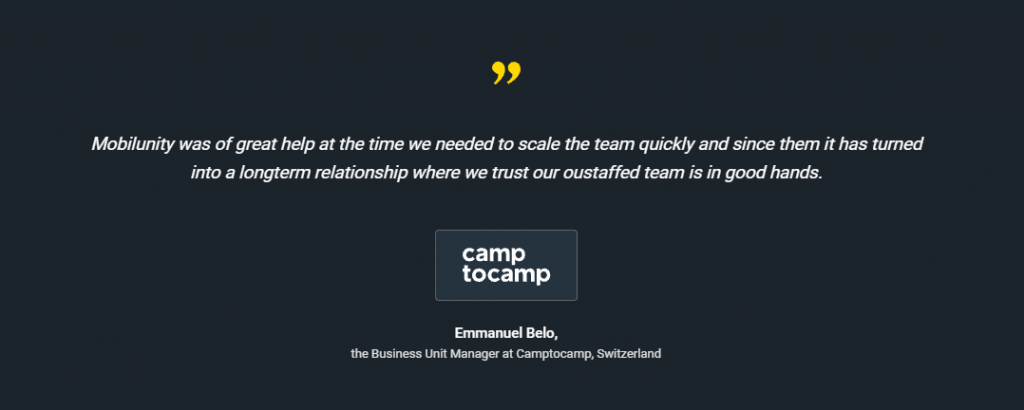 camptocamp feedback mobilunity