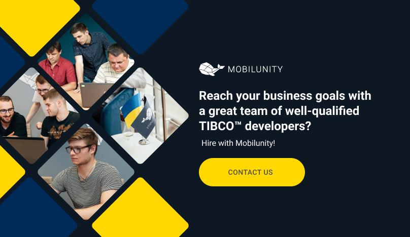 hire tibco™ developer in mobilunity